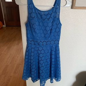 TRIXXI Blue Lace Mini Dress